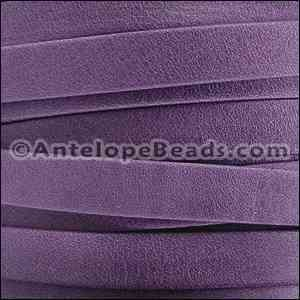 Arizona 10mm Flat Leather Cord - Violet - per inch