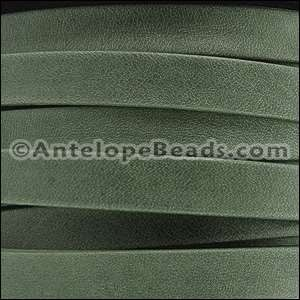 Arizona 10mm Flat Leather Cord - Forest Green