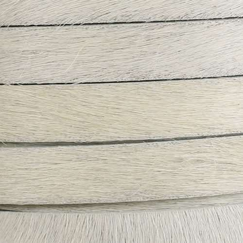 10mm flat HAIR ON leather OFF-WHITE