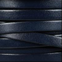 10mm Flat Leather Cord - Navy - per inch
