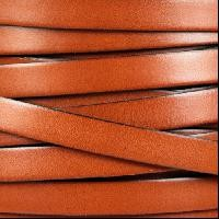 10mm Flat Leather Cord - Burnt Orange