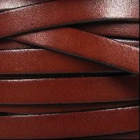 10mm Flat Leather Cord - Mahogany
