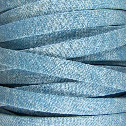 Faded Denim 10mm Flat Knit Cord - Light Denim