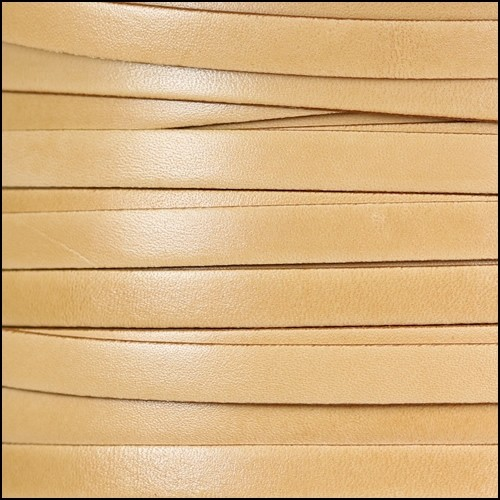 Italian Dolce 10mm Flat Leather Cord - Parsnip - per inch