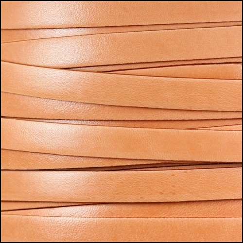 Italian Dolce 10mm Flat Leather Cord - Cantaloupe