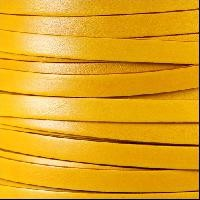 Italian Dolce 10mm Flat Leather Cord - Buttercup - per inch