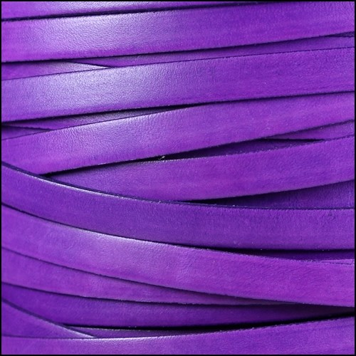 Italian Dolce 10mm Flat Leather Cord - Violet