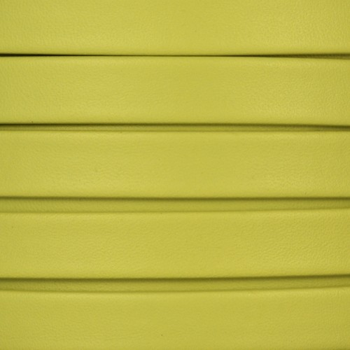 Mexican 10mm Flat Leather Cord - Key Lime - per inch