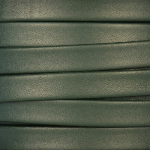 Mexican 10mm Flat Leather Cord - Forest Green - per inch