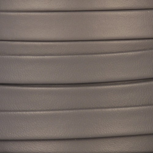 Mexican 10mm Flat Leather Cord - Grey - per inch