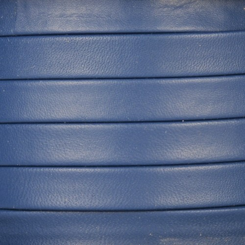 Mexican 10mm Flat Leather Cord - Royal Blue