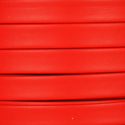 Mexican 10mm Flat Leather Cord - Red