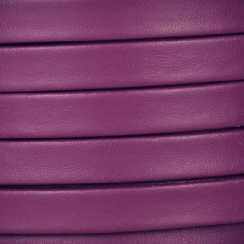 Mexican 10mm Flat Leather Cord - Purple