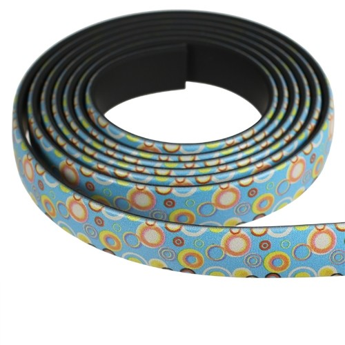 Fantasy 10mm Flat PVC Cord - Multi-Color Small Circles