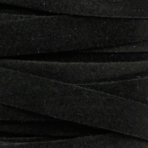 Suede 10mm Flat Cord - Black