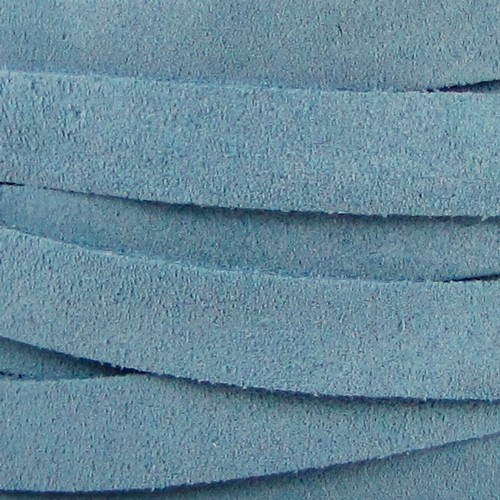 Suede 10mm Flat Cord - Pale Blue