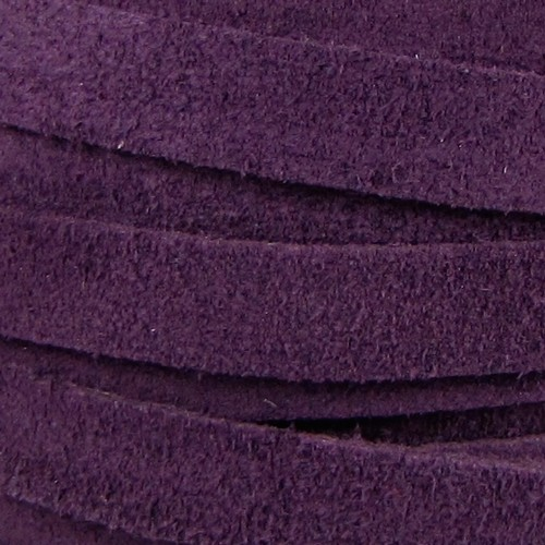 Suede 10mm Flat Cord - Purple
