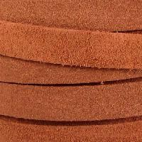 Suede 10mm Flat Cord - Medium Brown