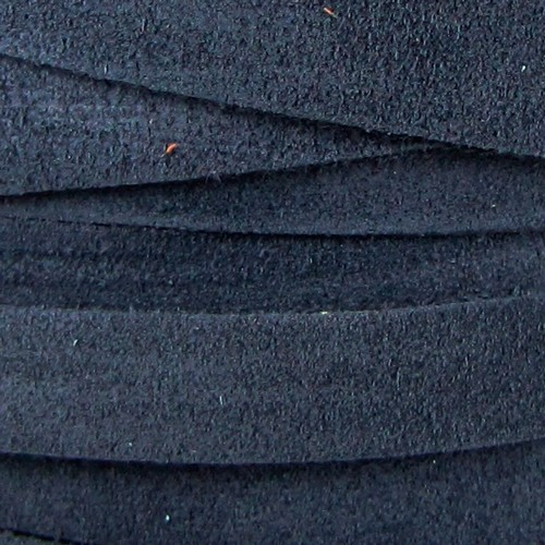 Suede 10mm Flat Cord - Navy