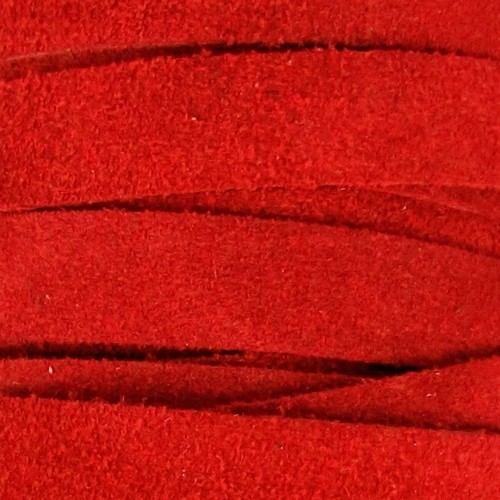 Suede 10mm Flat Cord - Red