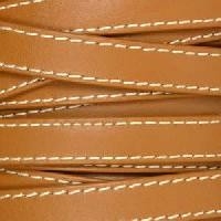 Gorgeous Goat 10mm Stitched Flat Leather Cord per 2 Meters - Brown