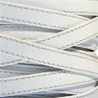 Gorgeous Goat 10mm Stitched Flat Leather Cord per 2 Meters - White
