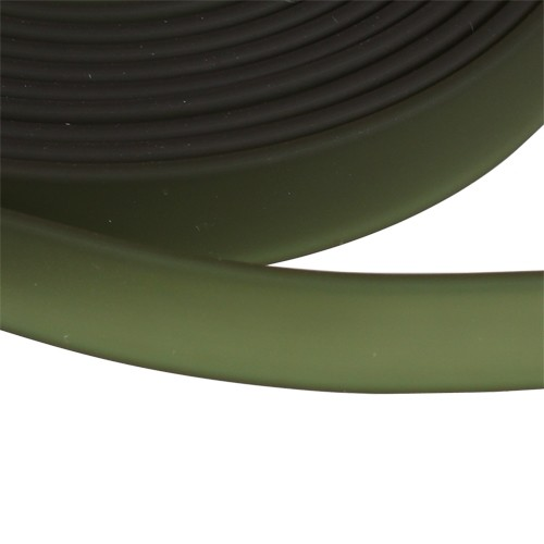 Jitzy 10mm Flat PVC Cord - Forest Green