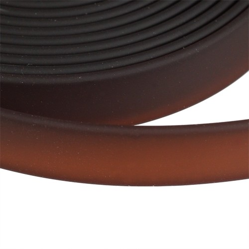 Jitzy 10mm Flat PVC Cord - Brown - per inch