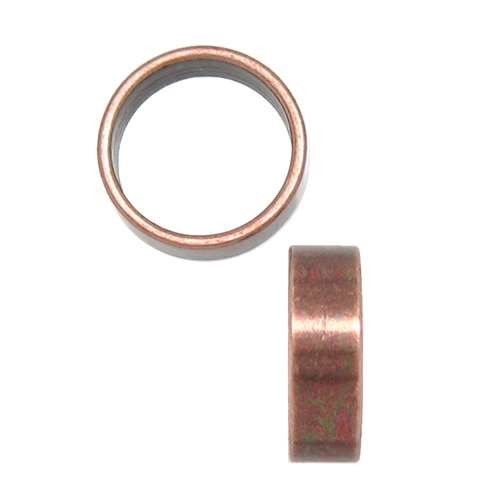 10mm Thin Plain Round Leather Cord Slider - Antique Copper