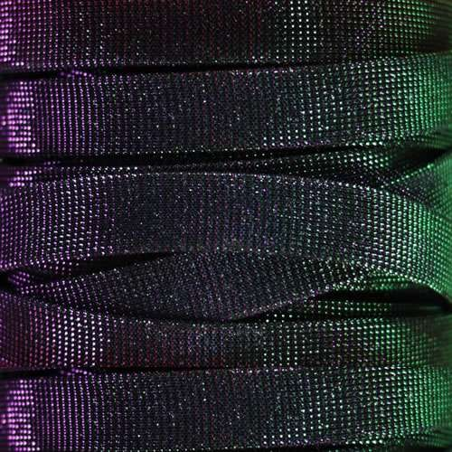 14mm Flat Iridescent Fabric Cord - Mardi Gras