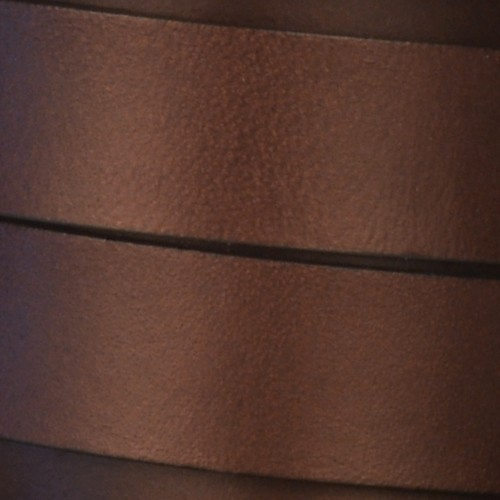 15mm Flat Leather Cord - Chocolate