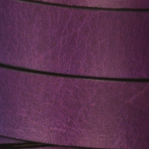 15mm Flat Leather Cord - Deep Purple