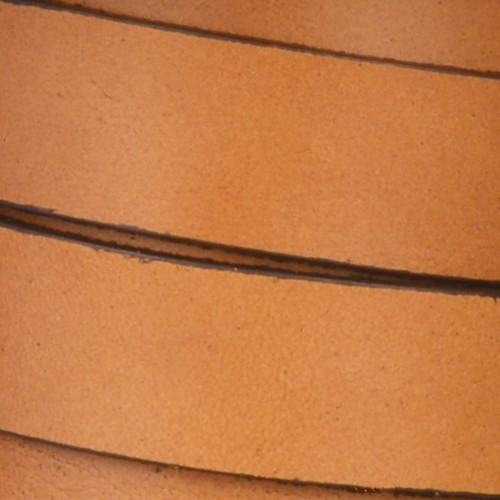 15mm Flat Leather Cord - Tobacco