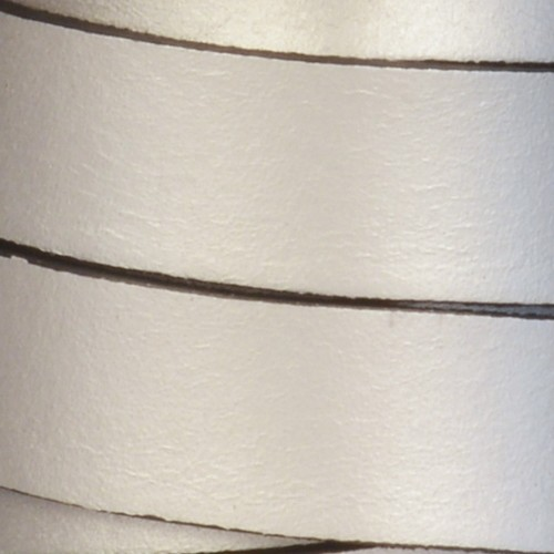 15mm Flat Leather Cord - Metallic Antique Silver
