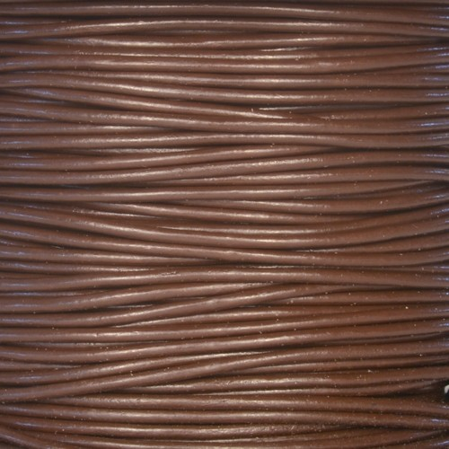 1.5mm Round Leather Cord - Brown