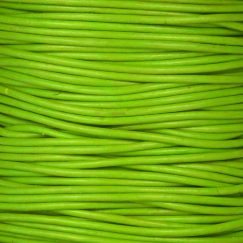 1.5mm Round Leather Cord - Apple Green