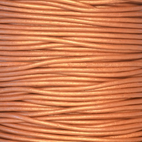 1.5mm Round Indian Leather Cord - Metallic Bronze