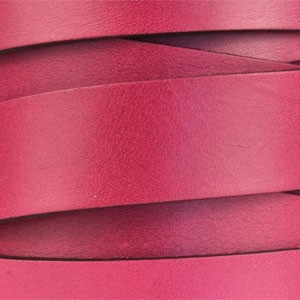 20mm Flat Leather Cord - Plum - per inch