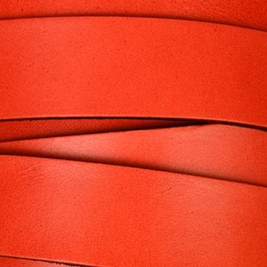 20mm Flat Leather Cord - Red