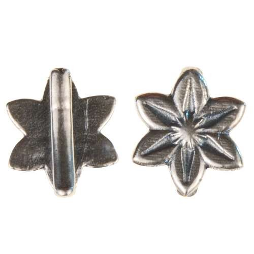 B&B Benbassat 10mm Daisy Flat Leather Cord Slider - Antique Silver