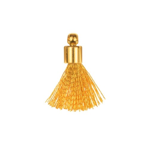 17mm Tassel Gold Plated Cap - Gold