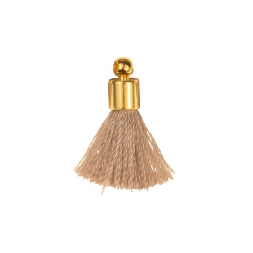 17mm Tassel Gold Plated Cap - Gray