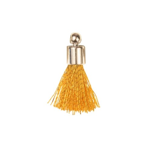 17mm Tassel Silver Plated Cap - Gold