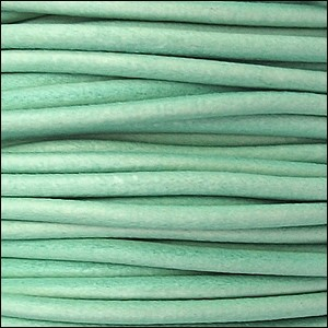 2mm Round Euro Leather Cord - Distressed Teal - per foot