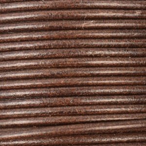2mm Round Leather Cord - Brown