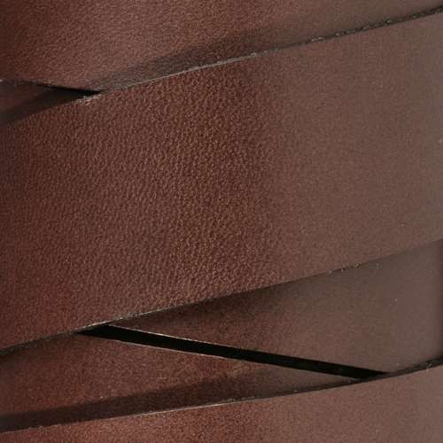 30mm Flat Leather Cord - Chocolate