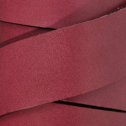 30mm Flat Leather Cord - Plum