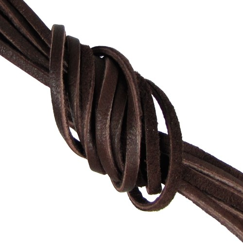 Deerskin 3mm Flat Lace Cord - Chocolate