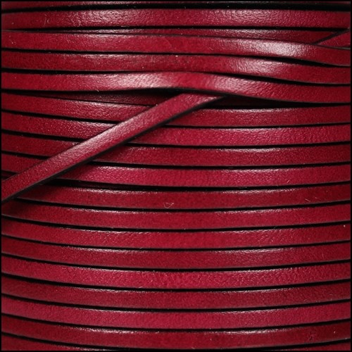 3mm Flat Leather Cord - Plum