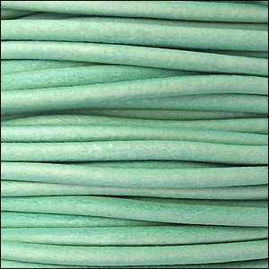 3mm Round Leather Cord - Distressed Teal